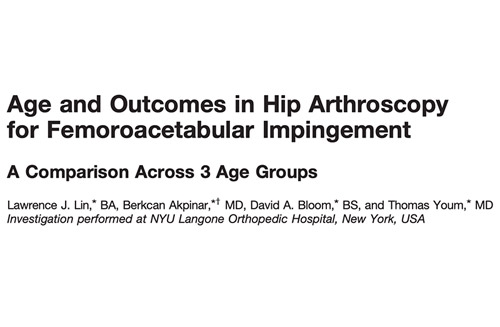Age and Outcomes in Hip Arthroscopy for Femoroacetabular Impingement. A Comparison Across 3 Age Groups
