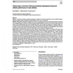 Arthroscopic correction of femoroacetabular impingement improves athletic performance in male athletes