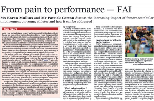 From pain to performance – FAI