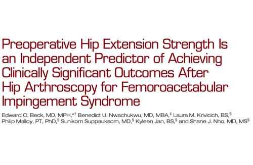 Preoperative Hip Extension Strength Is an Independent Predictor of Achieving Clinically Significant Outcomes After Hip Arthroscopy for Femoroacetabular Impingement Syndrome