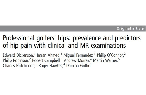 Professional golfers' hips: prevalence and predictors of hip pain with clinical and MR examinations