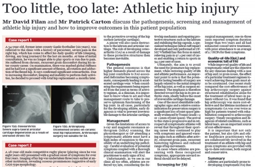 Too little, too late! – Athletic hip injury